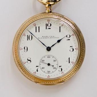 Puritan, Elgin Pocket Watch, Pendant Set