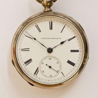 Hampden Pocket Watch, Key Wind, Key Set