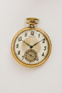Waltham Pocket Watch, Gold Filled Case, Pendant Set