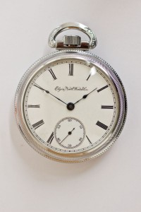 Elgin Pocket Watch, Pendant Set