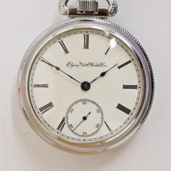 Elgin Pocket Watch, Pendant Set
